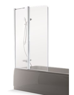 Baltijos Brasta vannas siena MAJA PLUS 90 caurspidīgs stikls - 1