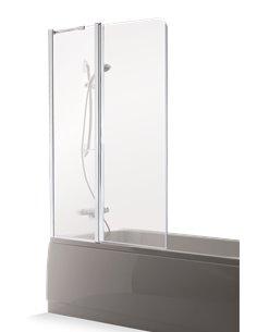 Baltijos Brasta vannas siena MAJA PLUS 110 caurspidīgs stikls - 1