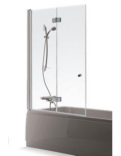 Baltijos Brasta vannas siena BERTA 80 caurspidīgs stikls - 1
