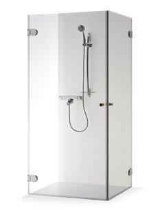 Baltijos Brasta shower enclosure LIEPA 80x80 transparent glass - 1