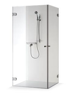 Baltijos Brasta shower enclosure LIEPA 100x100 transparent glass - 1