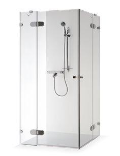 Baltijos Brasta duškabīne LIEPA PLUS 80x80 caurspidīgs stikls - 1