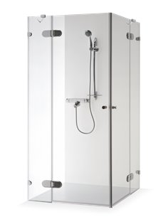 Baltijos Brasta shower enclosure LIEPA PLUS 80x80 transparent glass - 1