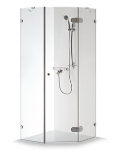 Baltijos Brasta shower enclosure NIDA 100x100 transparent glass - 1