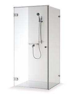 Baltijos Brasta shower enclosure NORA 100x100 transparent glass - 1
