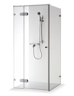 Baltijos Brasta shower enclosure NORA PLUS 80x80 transparent glass - 1