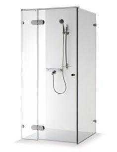 Baltijos Brasta shower enclosure NORA PLUS 100x100 transparent glass - 1