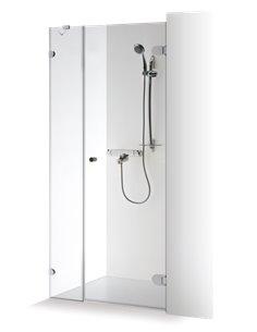 Baltijos Brasta dušas durvis IRMA 80 caurspidīgs stikls - 1