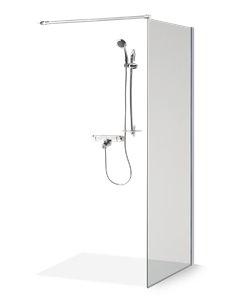 Baltijos Brasta dušas siena EMA 100 caurspidīgs stikls - 1