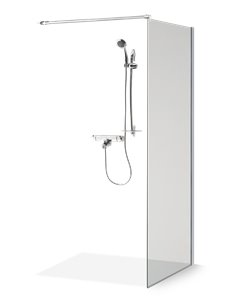 Baltijos Brasta shower wall EMA 100 transparent glass - 1