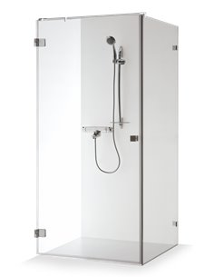 Baltijos Brasta shower enclosure VITA 80x80 transparent glass - 1