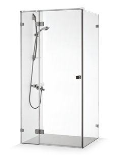 Baltijos Brasta shower enclosure VITA PLUS 80x80 transparent glass - 1