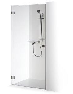 Baltijos Brasta dušas durvis GUNDA 80 caurspidīgs stikls - 1