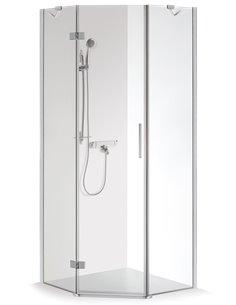 Baltijos Brasta duškabīne LUKA 100x100 caurspidīgs stikls - 1