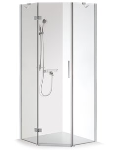 Baltijos Brasta shower enclosure LUKA 100x100 transparent glass - 1