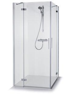 Baltijos Brasta duškabīne LORA 90x90 caurspidīgs stikls - 1