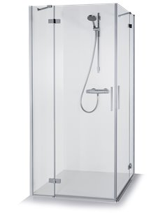 Baltijos Brasta shower enclosure LORA 100x100 transparent glass - 1