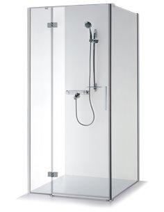 Baltijos Brasta duškabīne LORA 100x100 caurspidīgs stikls - 1