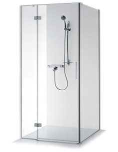 Baltijos Brasta shower enclosure NINA PLUS 100x100 transparent glass - 1
