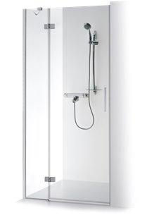 Baltijos Brasta dušas durvis TINA PLUS 120 caurspidīgs stikls - 1