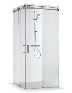 Baltijos Brasta shower enclosure VESTA 100x100 transparent glass - 1