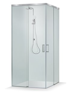 Baltijos Brasta shower enclosure VESTA SOFT 80x80 transparent glass - 1