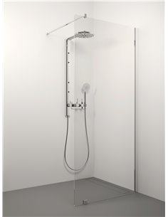Stikla Serviss Shower wall ERIKA 70x200 Clear - 1