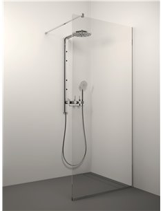 Stikla Serviss Shower wall KAIRA 90x200 Clear - 1