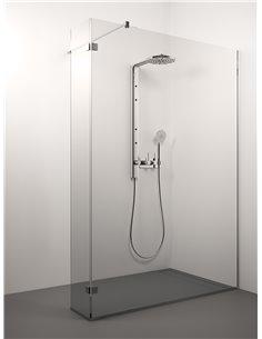 Stikla Serviss dušas siena DUE 160x200 Caurspīdīga - 1