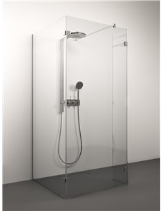 Stikla Serviss dušas siena QUATTRO 100x80x200 Caurspīdīga - 1
