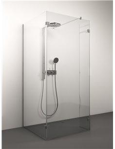 Stikla Serviss Shower wall QUATTRO 100x80x200 Clear - 1