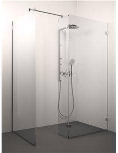 Stikla Serviss Shower wall CINQUE 140x80x200 Clear - 1