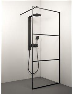 Stikla Serviss Shower wall KAIRA BLACK DEEP2 120x200 Clear - 1