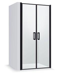 Baltijos Brasta dušas durvis GERDA NERO FRAME 90 caurspidīgs stikls
