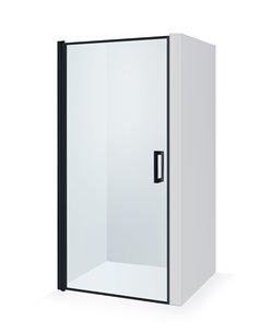 Baltijos Brasta dušas durvis GRETA NERO FRAME 90 caurspidīgs stikls
