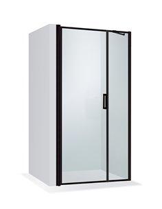 Baltijos Brasta dušas durvis RITA NERO FRAME 110 caurspidīgs stikls
