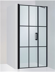 Baltijos Brasta dušas durvis RITA NERO CUBE 90 caurspidīgs stikls