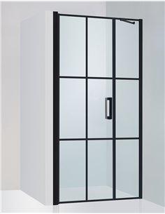 Baltijos Brasta dušas durvis RITA NERO CUBE 110 caurspidīgs stikls