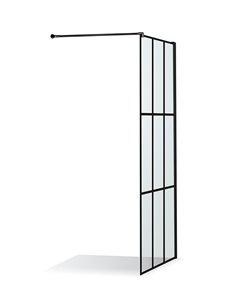 Baltijos Brasta dušas siena EMA NERO CUBE 100 caurspidīgs stikls