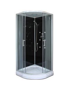 Roltechnik Hydromassage Shower Cabin LUX BLACK 900