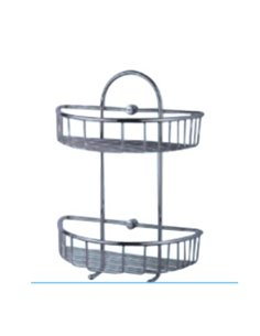Metāla plauktiņš vannas istabai H400
