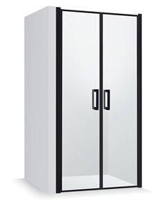Baltijos Brasta dušas durvis GERDA NERO FRAME caurspidīgs stikls, augstums: 200cm, platums: 109cm