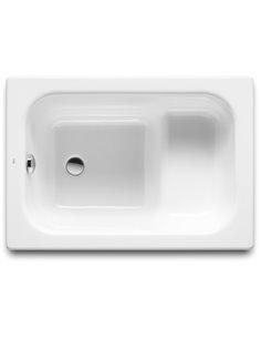 Roca tērauda vanna Contesa 100 cm ar sēdvietu