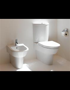 Keramag Flow komplekts, bidē+pods ar soft close vāku (ūdens padeve no aizmugures)