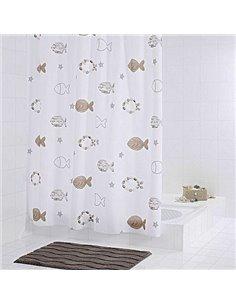 Ridder Bathroom Curtain Fishes 47819 - 1