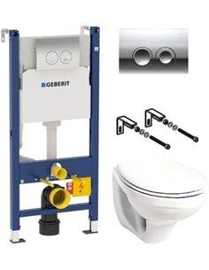 Komplekts: Geberit KOLO Idol 5 в 1 tualetes pods   + rāmis + poga - 1