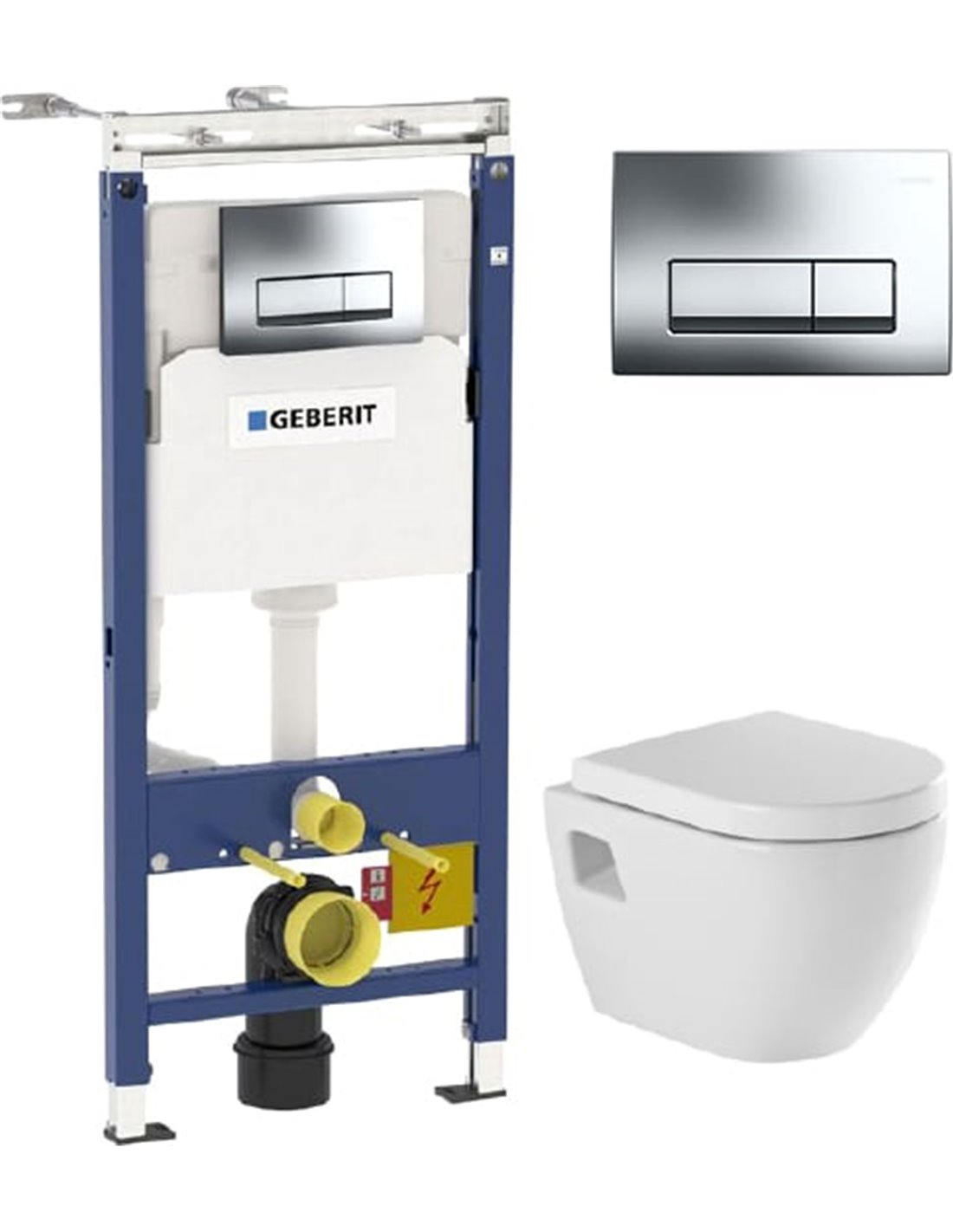 Set Frame For A Toilet Geberit Duofix Plattenbau 458 125 21 1 4 In 1 With Button