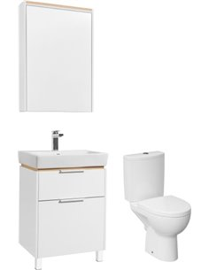 Set:  Toilet Cersanit Parva new clean on   + Furniture  STWORKI Дублин 60 - 1