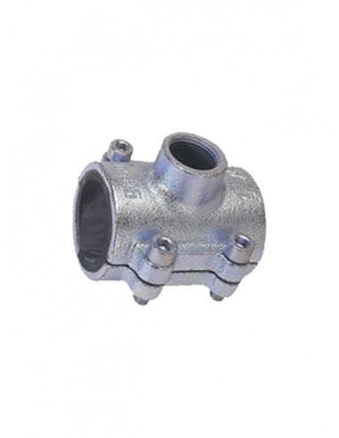 Bezvītņu uzmava ar atzaru tērauda caurulēm 3104G 1/2X1/2 G - 1
