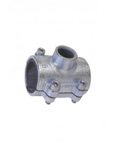 Bezvītņu uzmava ar atzaru tērauda caurulēm 3104G 1X3/4GEBO - 1